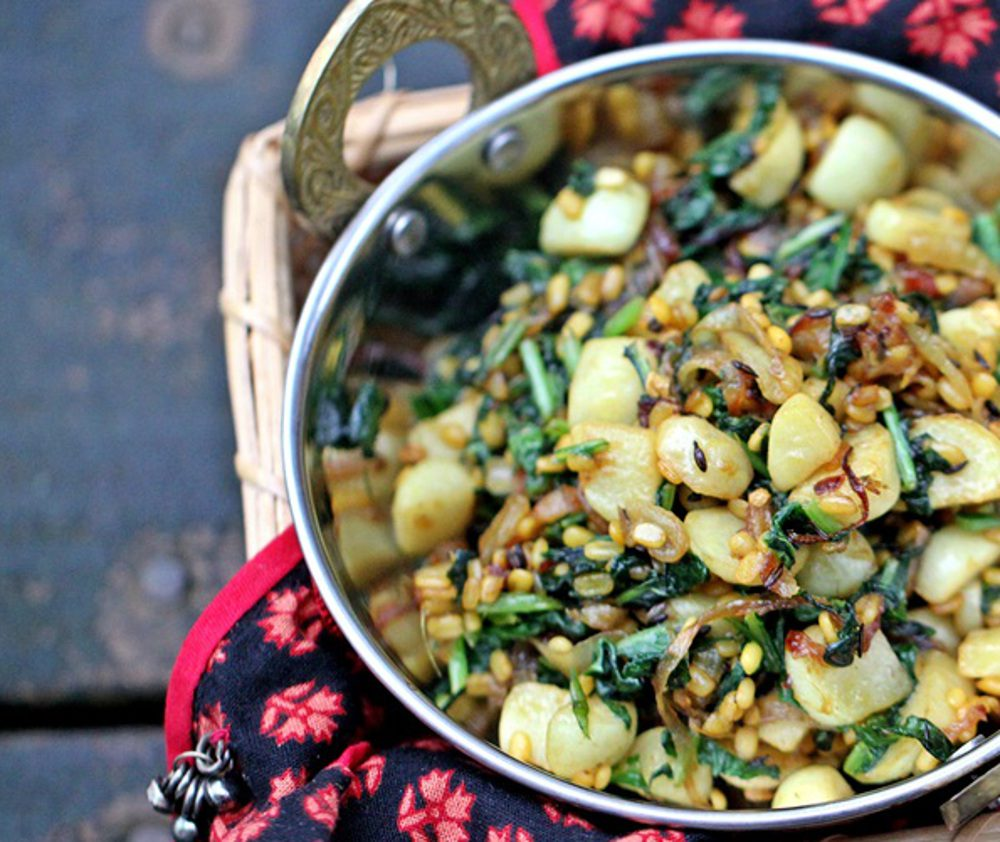 vegan turnips and lentils