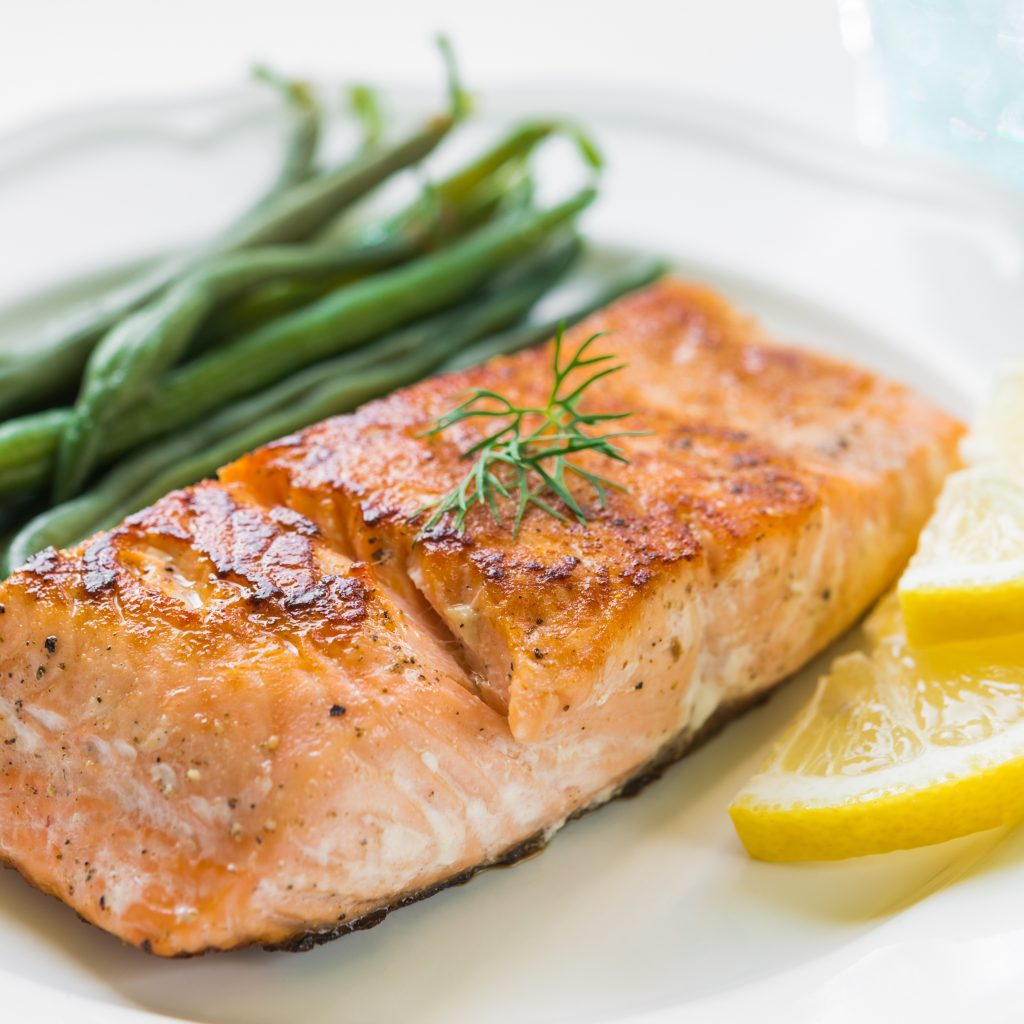 healthy grilled salmon