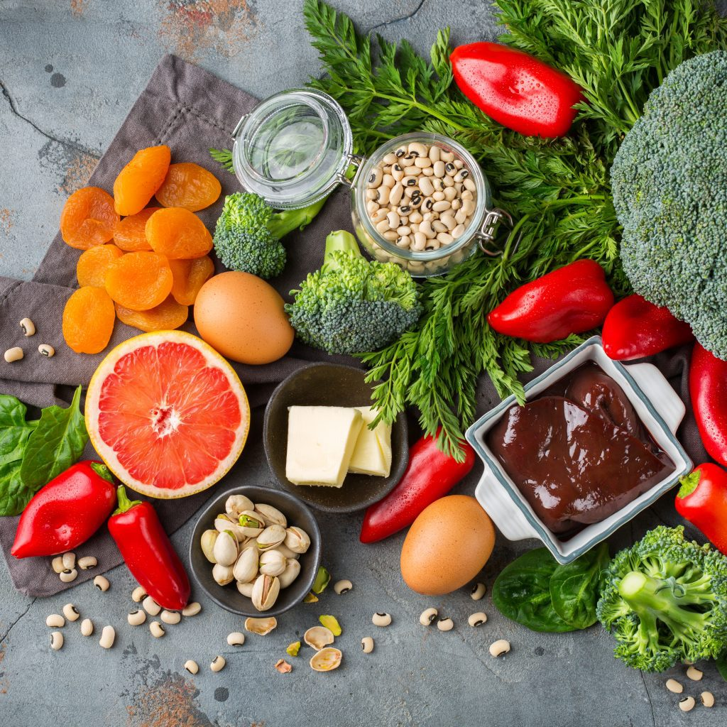 Balanced diet nutrition, healthy clean eating concept.