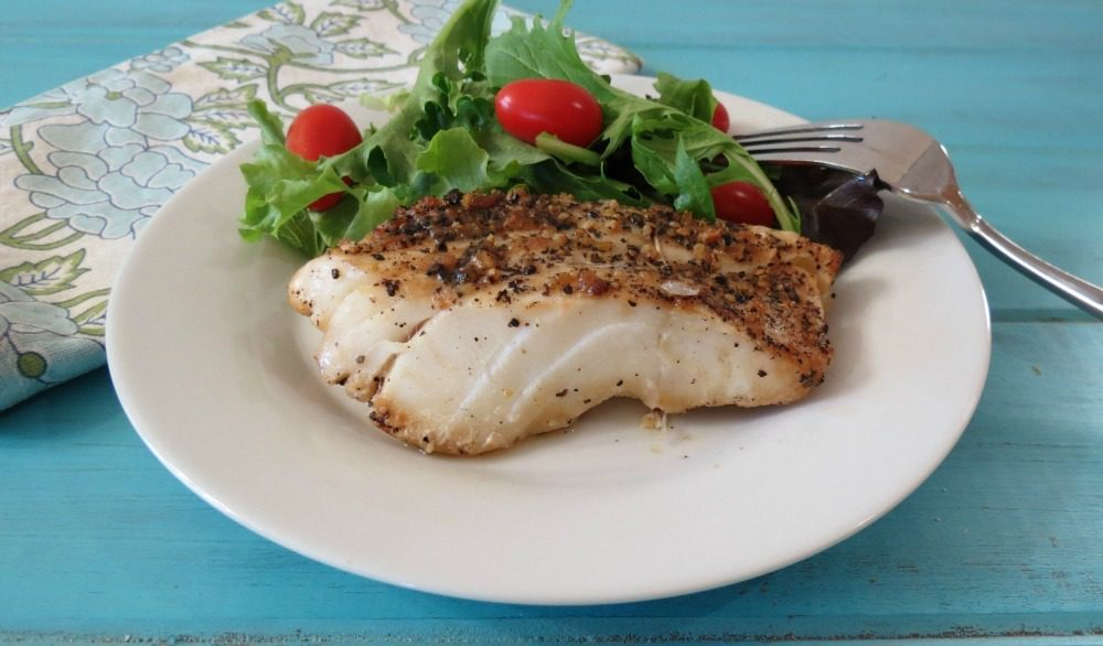 grilled cod healthy meal, lean protein source