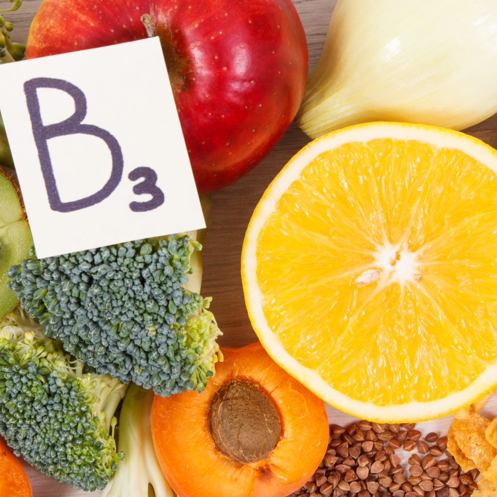 Nutritious food as source vitamin B3, dietary fiber and natural minerals, concept of healthy lifestyles